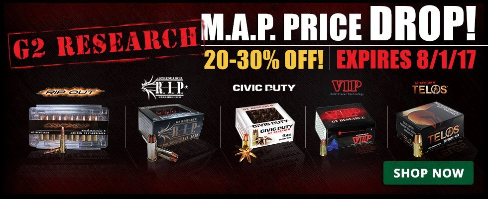 NatchezSS Limited Time Up To 30% Off G2 Ammo!