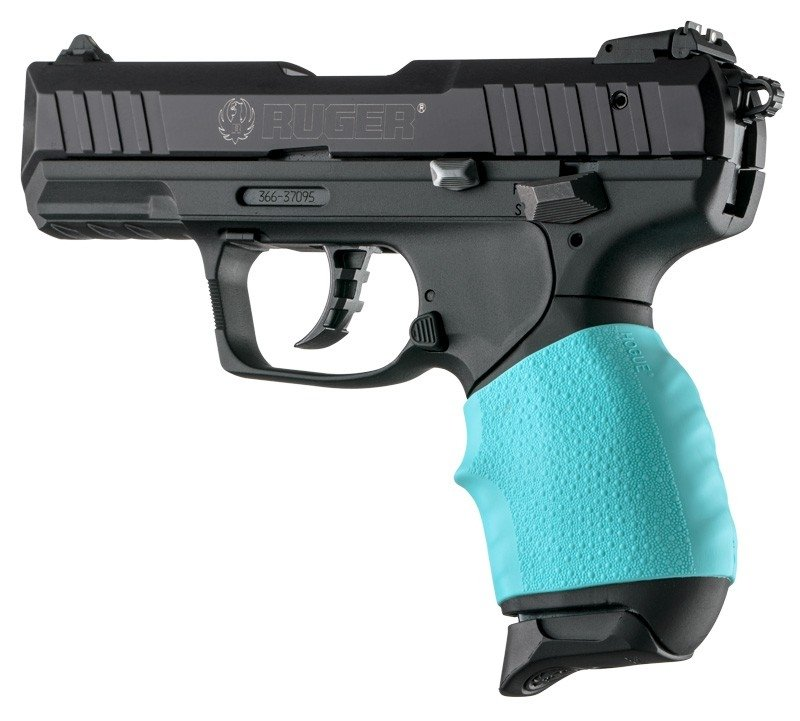 Hogue Handall Jr  Small Size Grip Sleeve Aqua