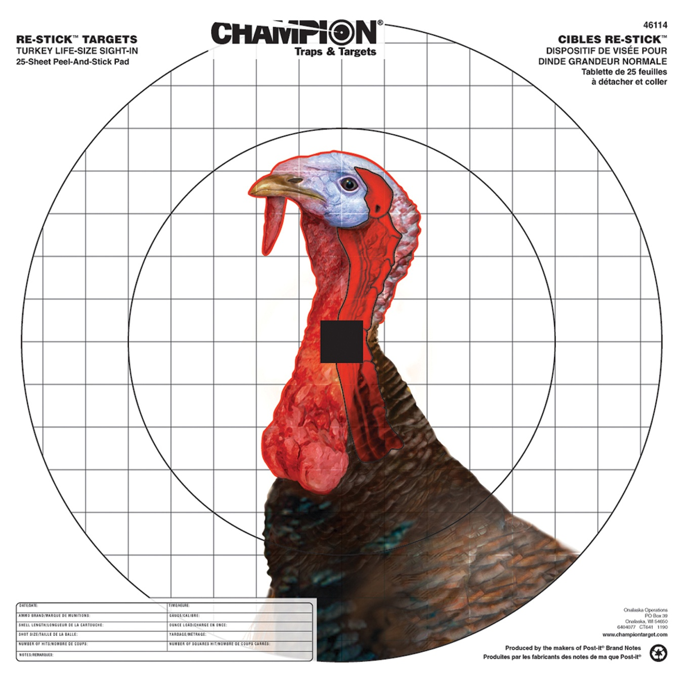 Champion ReStick Targets Turkey Sight-In, 16