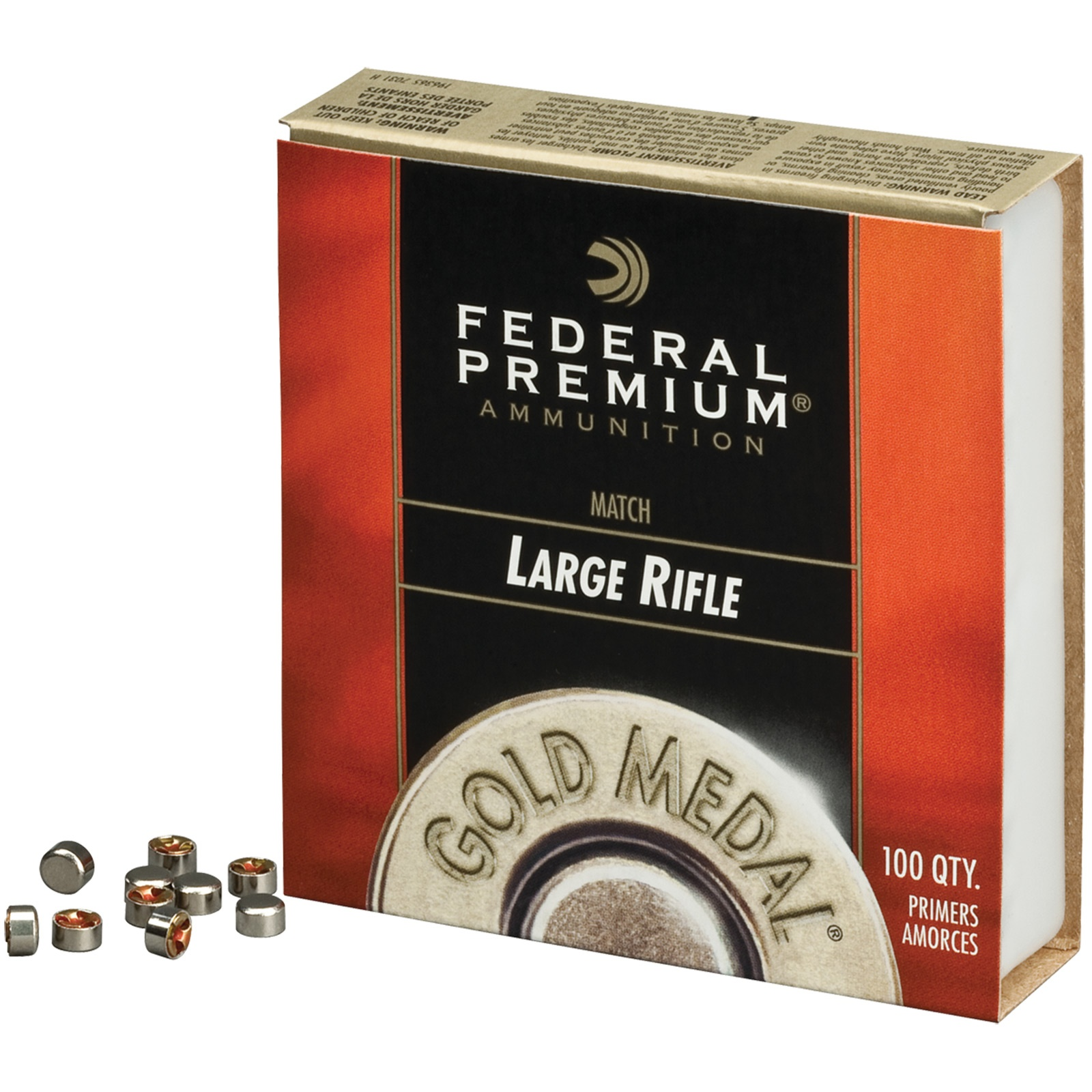 Federal Premium Gold Medal Centerfire Primers-Large Rifle Match