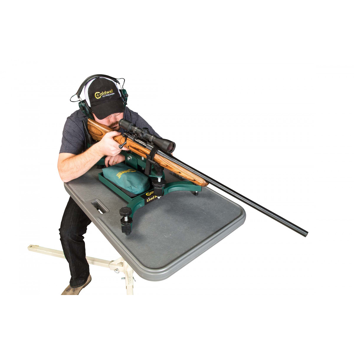Caldwell Lead Sled Solo Adjustable Recoil Reducing Rifle Shooting Rest for Outdoor Range Renewed 101777