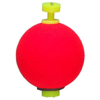"""Comal Tackle Snap-on Weighted Round Float .75"""" 1pk - Red"""