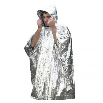 UST - Ultimate Survival Technologies Survival Reflect Poncho - PDQ 12 Silver Reflective