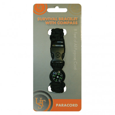 UST - Ultimate Survival Technologies Survival Bracelet with Compass - Black