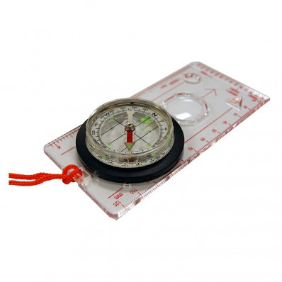 UST Deluxe Map Compass - Clear