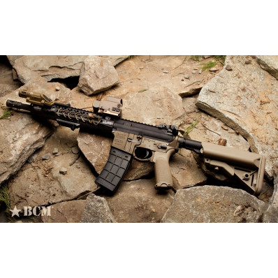 Bravo Company Gunfighter's Grip MOD1  Fits AR Rifles  Flat Dark Earth BCM-GFG-MOD-1-FDE
