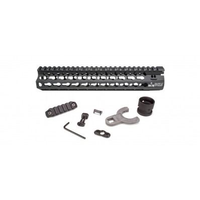 "Bravo Company Alpha Keymod Rail Fits AR Rifles 10"" Aluminum Alloy Black Finish Incl/ BCM KeyMod Sling Mount and a Bcmgunfighter KeyMod Nylon Rail BCM-KMR-A10-556-BLK"