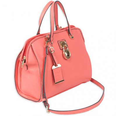 Bulldog Satchel Style Purse w/Holster - Coral