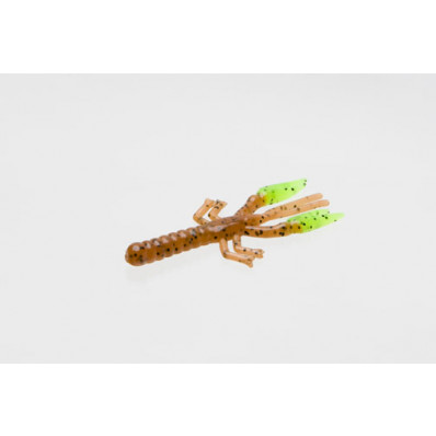 """Zoom Baits Lil Critter Craw Soft Lure 3"""" 12pk - Pumpkin/Chartreuse"""