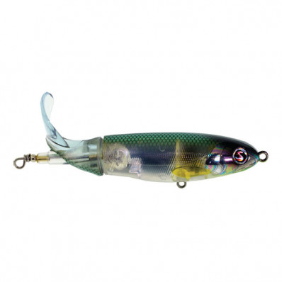 R2S Whopper Plopper 130S Top Prop Hard Lure - Abalone Shad
