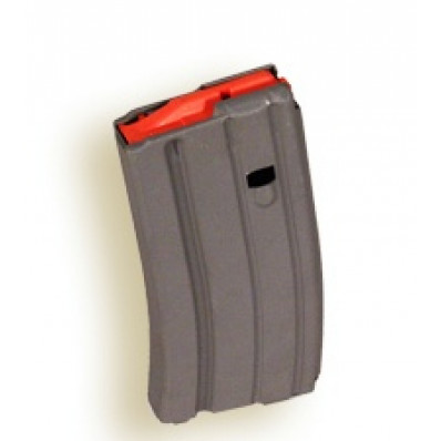 A.S.C. .223 Remington Aluminum Grey 20 Round Magazine with Orange Follower