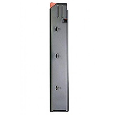 A.S.C. AR Family Rifle Magazines with Orange Follower - 9mm Black Stainless Steel, 20 rds.