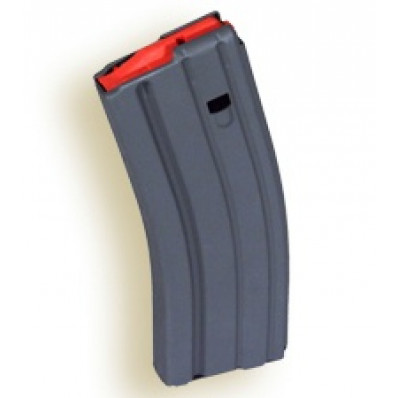 A.S.C. AR Family Rifle Magazines with Orange Follower - .223 Remington Grey Aluminum, 30 rds.
