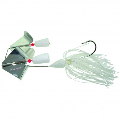 Accent Double Buzz Bait Lure 1/4 oz - White