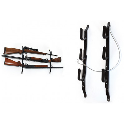 Allen Three Gun Locking Gun Rack with Steel Construction