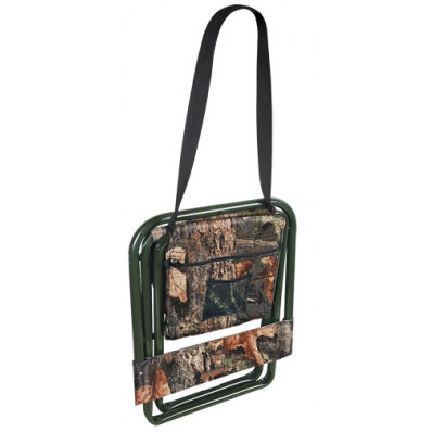 Allen Camouflage Folding Stool with  Backrest