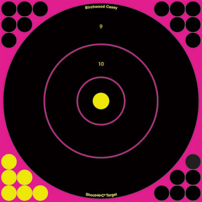 "Birchwood Casey Shoot-N-C Pink Reactive Targets 12"", 5/Pack"