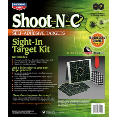 Birchwood Casey Shoot-N-C Sight-In Target Kit