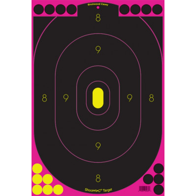 "Birchwood Casey Shoot-N-C Pink Reactive Targets 12""x18"" 5/Pack"