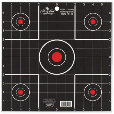 "Birchwood Casey Dirty Bird Sight-In Target - 12"", 12/Pack"