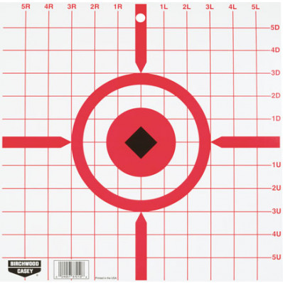 "Birchwood Casey Rigid Paper Crosshair Sight-In Target - 12"", 10/Pack"