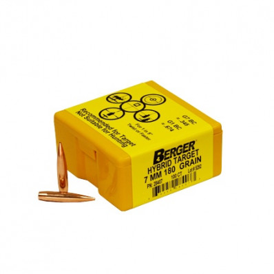 "Berger Match Grade Target Bullets 7mm .284"" 180 gr HYB 100/ct"