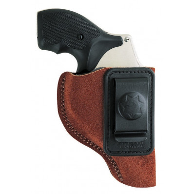 """Bianchi Model 6 Waistband Holster - S&W 15, 19, 686, K/L Frame 4"""", Right Hand, Rust Suede"""