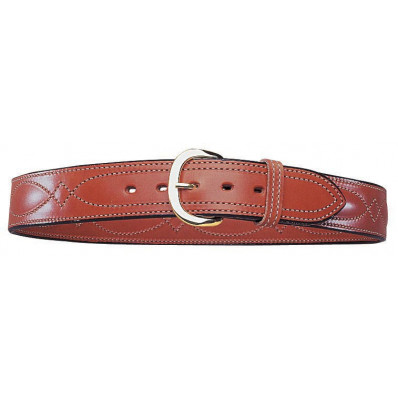 "Bianchi Model B21 Contour Belt, 38"" Plain Tan"