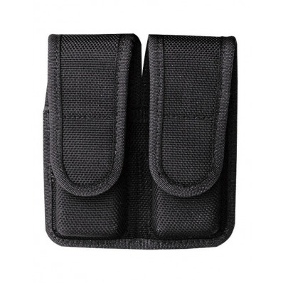 Bianchi Model 7302H AccuMold Double Magazine Pouch, Glock 20, 21, Hidden Snap, Black