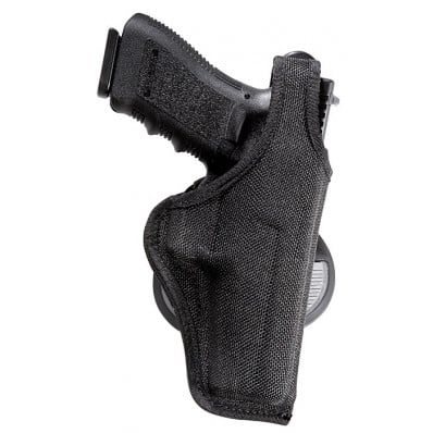 Bianchi Model 7500 AccuMold Paddle Holster, Glock 26, 27, Right Hand, Black