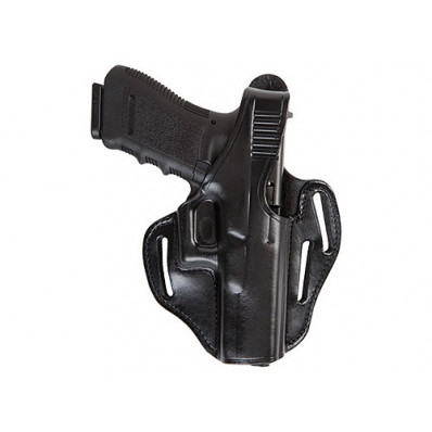 Bianchi Model 77 Piranha Pancake-Style Holster, Glock 26, Right Hand, Plain Black