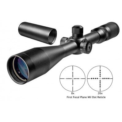 "Barska Benchmark Competition Rifle Scope Series - 8-26x50mm Mil-Dot 15.2-3.67' 2.7"" Matte"