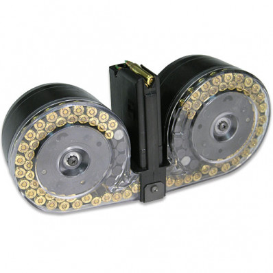 C-Mag Magazine System - Magazine with Cover, Technical Manual, Graphite Tube, 100 rds. - Mini-14 9mm, Clear Cover