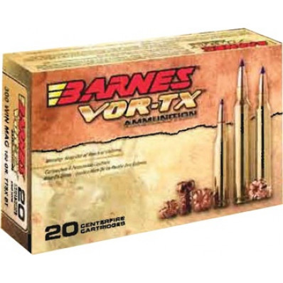 Barnes VOR-TX Centerfire Rifle Ammunition .308 Win 168 gr TTSXBT 2680 fps - 20/box