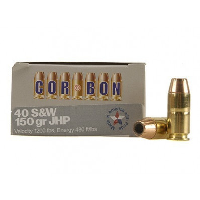 Corbon Self-Defense JHP Handgun Ammunition .40 S&W 150 gr JHP 1200 fps 20/box