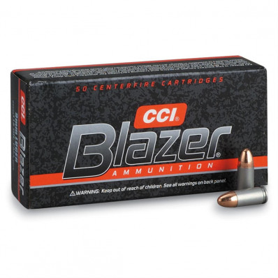 Blazer Ammunition 9mm Makarov 95 gr TMJ 1000 fps 50/box