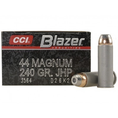 Blazer Ammunition .44 Mag 240 gr JHP 1200 fps 50/box