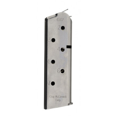 Chip McCormick Match Grade Magazine - Officer's 1911 .45 ACP, Stainless Steel, 7 rds.