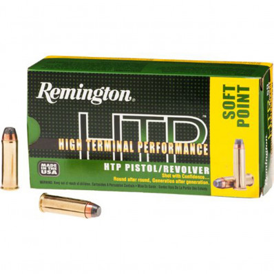 Remington HTP Centerfire Handgun Ammunition .44 Mag  SP  50/box