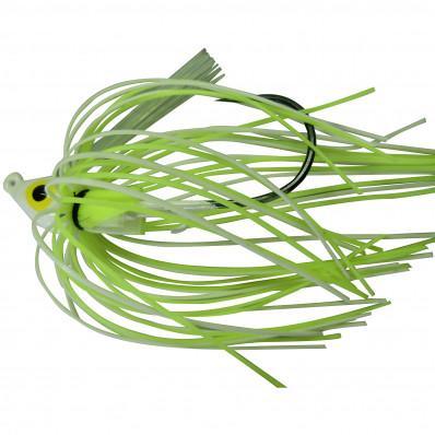"""Lethal Weapon II Swim Jig Lure 3/8"""" - Pearl/Chartreuse"""