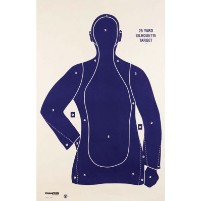 Champion LE Targets B21-E 25 yd. Police Silhouette Target -100/Pack