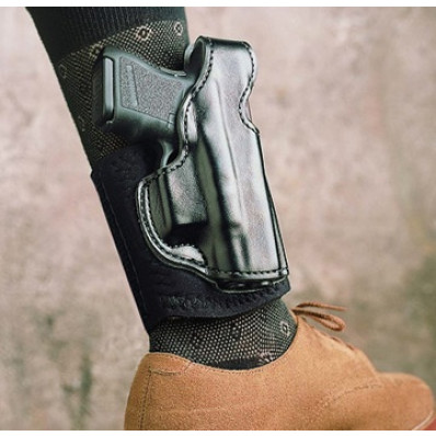 DeSantis S&W M&P Compact Die Hard Ankle Rig-Style 014, Right Hand, Black