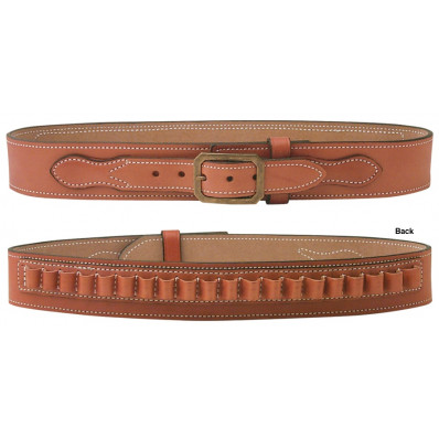 DeSantis Size 40 w/20rd .45LC Cartridge Loops Desperado Gun Belt-Style B37, Tan