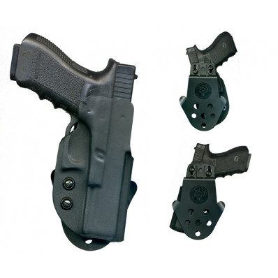 "DeSantis Springfield XD9, XD40 4"" DS Paddle Holster-Style D94, Right Hand, Black"