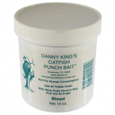 Danny King Catfish Punch Bait Catfish Dough 14 oz - Blood