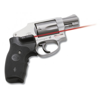 Crimson Trace Revolver Lasergrip - S&W J-Frame Round Butt Extended Grip