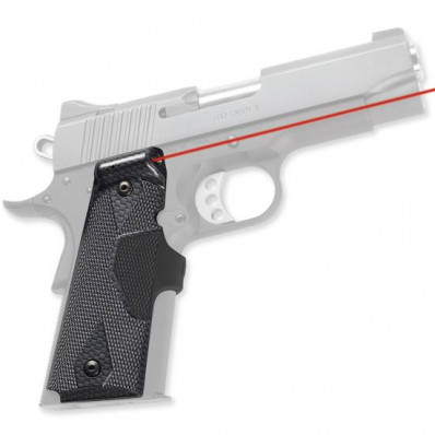 Crimson Trace Pro-Custom Lasergrip - Gov't/Commander 1911 Carbon Fiber Front Activation