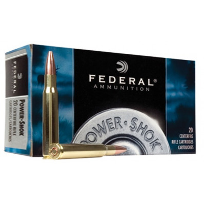 Federal Power-Shok Centerfire Rifle Ammunition .22-250 Rem 55 gr SP 3050 fps - 20/box