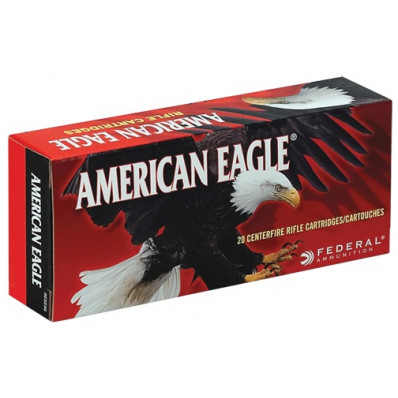 Federal American Eagle Centerfire Rifle Ammunition 7.62x39 124 gr FMJ 2350 fps - 20/box