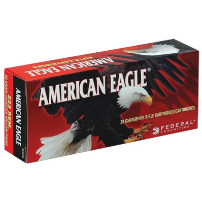 Federal American Eagle Centerfire Rifle Ammunition .223 Rem 55 gr FMJBT 3240 fps - 20/box